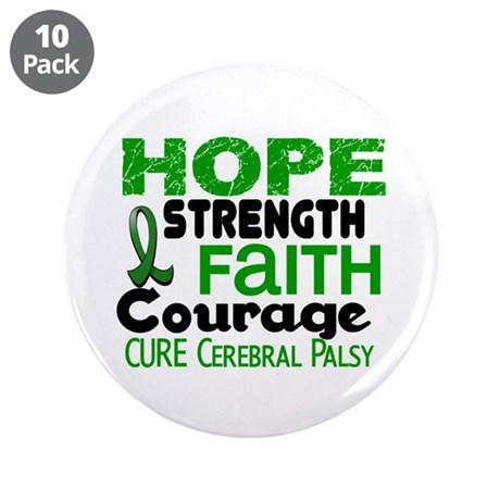 """HOPE Cerebral Palsy 3 3.5"""" Button (10 pack)"""