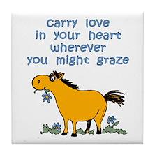 Carry Love Horse Tile Coaster