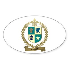 LEPOUPET Family Crest Oval Decal