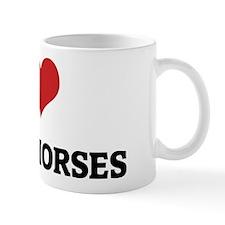 I Love Nonius Horses Mug