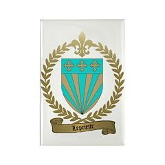 LEPRIEUR Family Crest Rectangle Magnet
