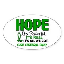 HOPE Cerebral Palsy 1 Oval Decal