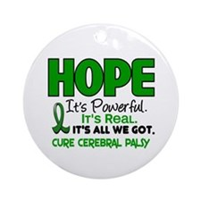 HOPE Cerebral Palsy 1 Ornament (Round)