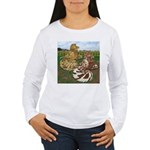 Two Trumpeter Pigeons Women's Long Sleeve T-Shirt