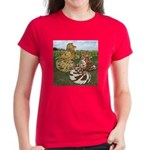 Two Trumpeter Pigeons Women's Dark T-Shirt