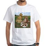 Two Trumpeter Pigeons White T-Shirt
