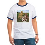 Two Trumpeter Pigeons Ringer T
