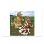 Two Trumpeter Pigeons Postcards (Package of 8)