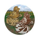Two Trumpeter Pigeons Ornament (Round)