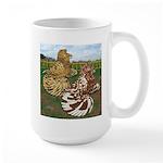 Two Trumpeter Pigeons Large Mug