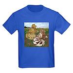 Two Trumpeter Pigeons Kids Dark T-Shirt