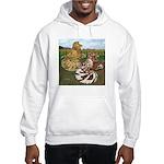 Two Trumpeter Pigeons Hooded Sweatshirt