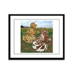 Two Trumpeter Pigeons Framed Panel Print