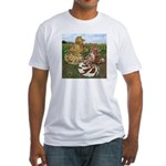 Two Trumpeter Pigeons Fitted T-Shirt