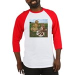 Two Trumpeter Pigeons Baseball Jersey