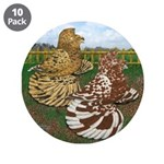 """Two Trumpeter Pigeons 3.5"""" Button (10 pack)"""