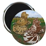 """Two Trumpeter Pigeons 2.25"""" Magnet (100 pack)"""