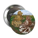 """Two Trumpeter Pigeons 2.25"""" Button"""