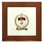 LEREAU Family Crest Framed Tile
