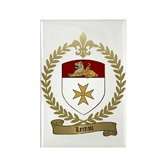 LEREAU Family Crest Rectangle Magnet (100 pack)