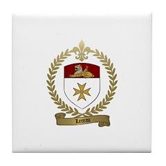 LEREAU Family Crest Tile Coaster