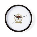LEREAU Family Crest Wall Clock