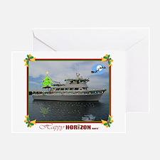 Decorated HORIZON Greeting Card
