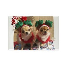 Chihuahua Xmas Rectangle Magnet