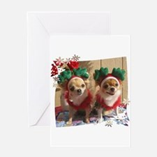 Chihuahua Xmas Greeting Card