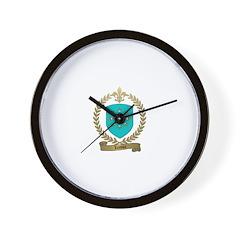 LEROUX Family Crest Wall Clock
