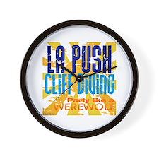 La Push Cliff Diving Wall Clock