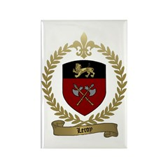 LEROY Family Crest Rectangle Magnet (100 pack)
