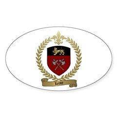 LEROY Family Crest Oval Decal