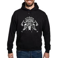 Indian Skull Tribe Hoodie
