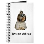 I Love My Shih Tzu Journal