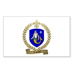 LESOURD Family Crest Rectangle Decal