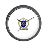 LESOURD Family Crest Wall Clock