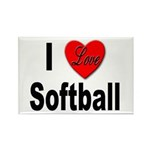 I Love Softball Rectangle Magnet (10 pack)