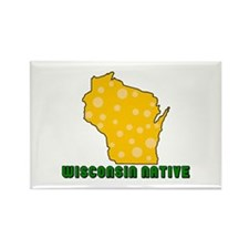 Wisconsin Native Rectangle Magnet