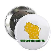 "Wisconsin Native 2.25"" Button"