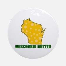 Wisconsin Native Ornament (Round)