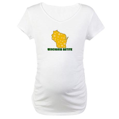 Wisconsin Native Maternity T-Shirt