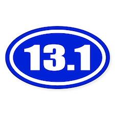 Blue 13.1 Half Marathon Decal