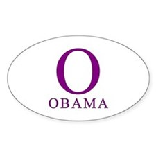 Purple Obama O Oval Decal