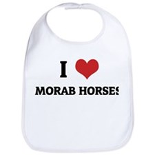I Love Morab Horses Bib
