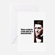 """Emerson """"Nonconformist"""" Greeting Cards (Pk of 10)"""