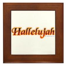 Hallelujah Framed Tile