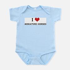 I Love Miniature Horses Infant Creeper