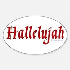 Hallelujah Oval Decal
