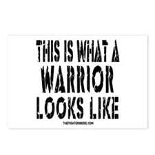 This is What a WARRIOR Looks Postcards (Package of